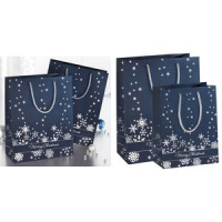 "Sigel Christmas gift bag ""Zilveren Sneeuwvlokken"", small 4004360835162"