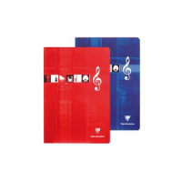Cahier Clairefontaine kasboek Musique Chant A4 48 pagina s 3329680311709