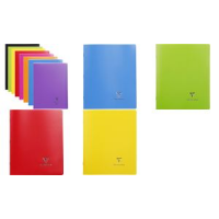 Cahier Clairefontaine Koverbook 170 x 220 mm Seyes rouge 3037929514148
