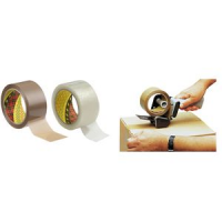 3M Scotch tape verpakking 371 PP 38 mm x 66 m brown 8000280419204