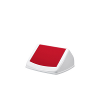 Durable hoes DURABIN FLIP LID SQUARE 40, wit / rood 7318080001231