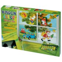Folia Action Funny Window color glasverfset - 7-delig ANTIK 4001868450071