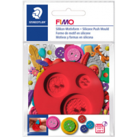 FIMO voor siliconen pattern boutons Vijf Knoppen roodenen