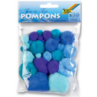 Folia Pompons TONE IN TONE MIX blauw 4001868073478