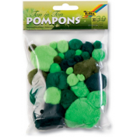 Folia Pompons TONE IN TONE MIX groen 4001868073485
