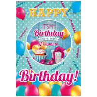 "Susy Card 3D verjaardagskaart ""Happy Birthday"", A4, 4050498230263"
