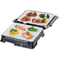 CLATRONIC Contact grill KG 3571 roestvrij staal zwart 4006160636574
