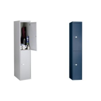 BISLEY garderobe Office, 2 laden, zilver 5020073749151