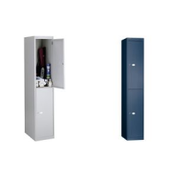 BISLEY garderobe Office, 2 laden, zilver 5020073720181