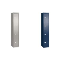 BISLEY locker Office, 4 compartimenten, Oxford blauw 5020073752700