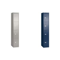 BISLEY locker Office, 4 compartimenten, Oxford blauw 5020073720273