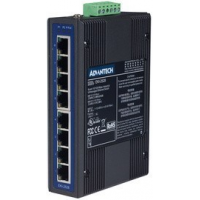 ADVANTECH Unmanaged Industrial Ethernet Switch, 8 Port