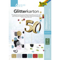 folia glitter karton block Basis 170 x 245 mm 300 g sqm 4001868107821