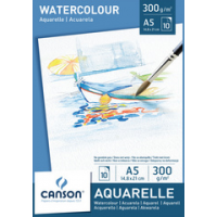 Canson waterverfdocument blok A4 300 g sq m witte 3148950057891