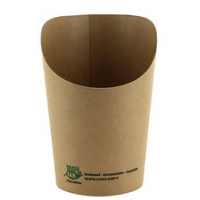 Papstar Wrap Cup pure rond 230 ml bruin 4002911380833