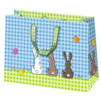 """SUSY CARD Pasen gift bag """"Bunnies"""", small, 4050498265883"""