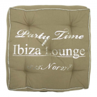 *boxkussen ibiza beige party time 40x40cm*, 8716522039474