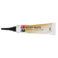 Marabu relief pasta metaal goud in 20 ml tube 4007751470942