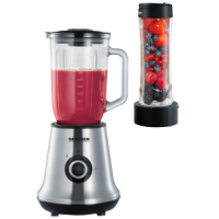 SEVERIN Multimixer + Smoothie Mix & Go SM 3737, roestvrij staal