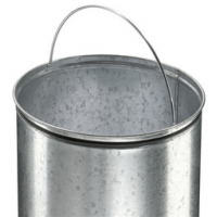 Hailo pedaal afvalbak Pure XL roestvrij staal zilver 44 L