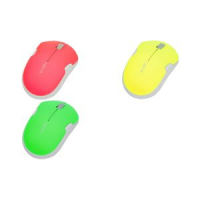 LogiLink Optical NoteboOK Mouse draadloze neon groen 4052792030228