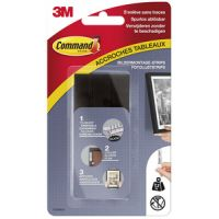 3M Command Picture montage strips, maat: L, zwart 4046719435005