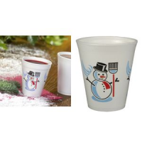 Papstar plastic thermo beker snowman 0 2 l wit 4002911121467
