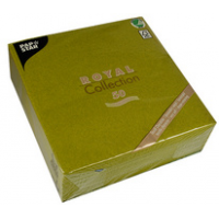 Papstar servetten ROYAL Collection olijfgroen 4002911817490