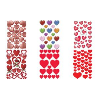 HERMA stickers DECOR Hearts Letters zilver embossing 4008705035095