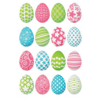 HERMA Pasen stickers DECOR Happy kleurrijke easter eggs 4008705037174 SC62159902