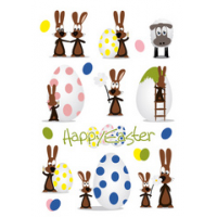 HERMA Pasen stickers TREND rabbit partij 4008705017299