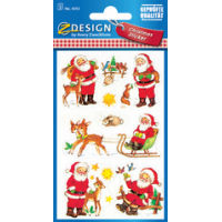 AVERY Zweckform ZDesign Kerstmis Sticker sneeuwmannen 4004182523353