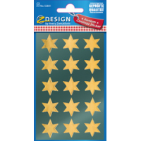AVERY Zweckform ZDesign Kerstmis Sticker Star goud 4004182528013