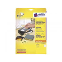 Avery video etiket Avery 147 3x20 wit NP doos 25 vel 13 et per vel 4004182047460