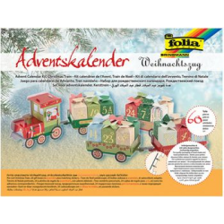 Folia calendar'Train de Noel Advent', 60 stuks