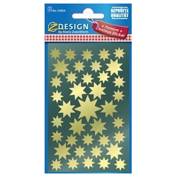 "AVERY Zweckform ZDesign Kerstmis Sticker ""Star"", goud 4004182528044"