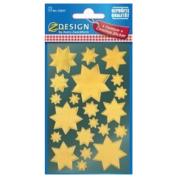 "AVERY Zweckform ZDesign Kerstmis Sticker ""Star"", goud 4004182528075"
