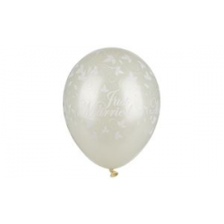 "Papstar ballonnen ""Just Married"", ivoor metallic 4002911819470"