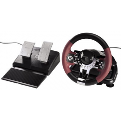 Hama Steering Wheel Racing Wheel Thunder V5 2in1, zwart / donkerrood 4007249518453