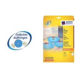 AVERY Zweckform CD labels Supersize, wit, mat 4004182236529