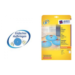 AVERY Zweckform CD labels Supersize, wit, mat 4004182236536