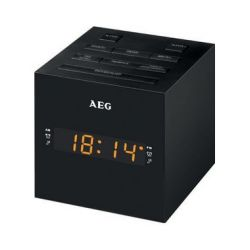 AEG FM Clock Radio MRC 4150, LED-display, zwart 4015067000616