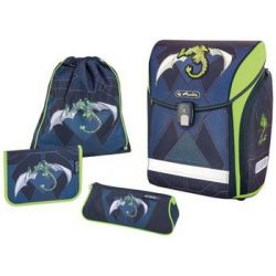 Herlitz School Backpack zee Midi'Green Robo Dragon ' 4008110558837