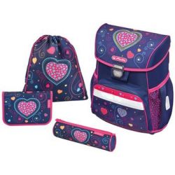 Herlitz School Backpack Loop More'blauw Hearts' 4008110559025